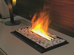 - Electric built-in fireplace with remote control I-MODULART | Electric fireplace - Presotto Industrie Mobili