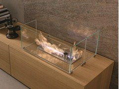- Open built-in bioethanol fireplace I-MODULART | Bioethanol fireplace - Presotto Industrie Mobili