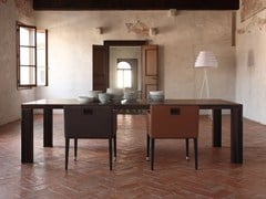 - Rectangular wooden table FIRENZE | Wooden table - COLLI CASA