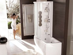 Whirlpool bathtub with shower NEMESI BOX - HAFRO