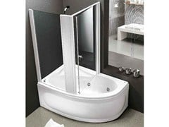 Whirlpool bathtub with shower LUNA BOX - HAFRO