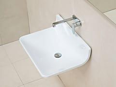 - Wall-mounted ceramic washbasin PLATE | Wall-mounted washbasin - CERAMICA FLAMINIA