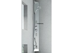 - Corner multifunction steel shower panel QUARANTACINQUE BASE - GRUPPO GEROMIN