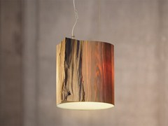 - Handmade wooden pendant lamp THE WISE ONE WHITE - Mammalampa