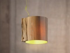 - Handmade wooden pendant lamp THE WISE ONE GREEN - Mammalampa