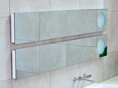 - Rectangular wall-mounted mirror with integrated lighting SIMPLE 150/180 | Rectangular mirror - CERAMICA FLAMINIA