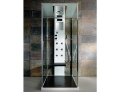 - Multifunction crystal and steel shower cabin RIGENERA BOX | Shower cabin - HAFRO