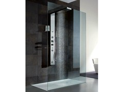 - Multifunction crystal and steel shower cabin BRISTOL BOX 1 - GRUPPO GEROMIN