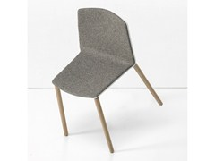- Upholstered stackable chair RAMA WOOD BASE - Kristalia