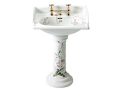 - Pedestal washbasin VICTORIAN | basin Garden decor pedestal - GENTRY HOME
