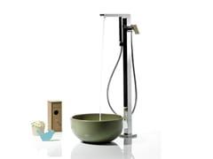 - Floor standing bathtub mixer with diverter with hand shower TWEET | Floor standing bathtub mixer - RUBINETTERIE RITMONIO
