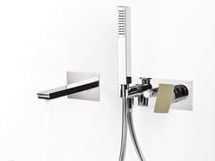 - Wall-mounted bathtub set with diverter with hand shower TWEET | Wall-mounted bathtub set - RUBINETTERIE RITMONIO