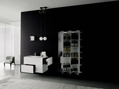 - Solid Surface® wall cabinet with mirror CTLINE | Bathroom cabinet - Boffi