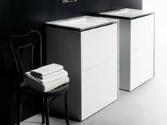 - Single Corian® vanity unit with drawers B15 | Corian® vanity unit - Boffi