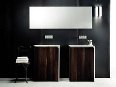 - Single wood veneer vanity unit with drawers B15 | Wood veneer vanity unit - Boffi