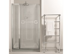 - Glass shower cabin with hinged door ATHENA | shower enclosure fixed panel - GENTRY HOME