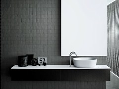 - Wall-mounted wood veneer vanity unit DUEMILAOTTO | Wood veneer vanity unit - Boffi