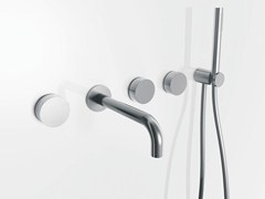 - 5 hole wall-mounted bathtub set with hand shower AF/21 | 5 hole bathtub set - ABOUTWATER