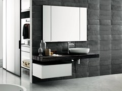 - Contemporary style wooden washbasin countertop FLYER | Walnut washbasin countertop - Boffi