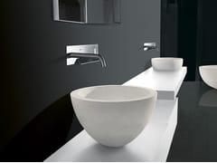 - Countertop stone washbasin I FIUMI | Stone washbasin - Boffi
