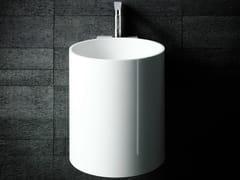 - Wall-mounted Corian® handrinse basin round PHW - Boffi