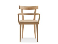 - Beech chair with armrests CAFÈ | Chair with armrests - BILLIANI