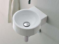 - Wall-mounted ceramic handrinse basin MINI TWIN | Wall-mounted handrinse basin - CERAMICA FLAMINIA