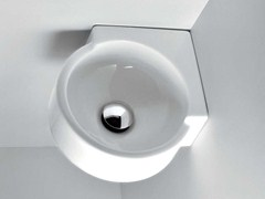 - Corner wall-mounted handrinse basin MINI TWIN | Corner handrinse basin - CERAMICA FLAMINIA
