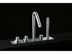 - Stainless steel bathtub tap with hand shower MINIMAL | Bathtub tap - Boffi