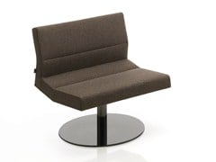 - Swivel upholstered fabric easy chair INKA STEEL L 100 ST BG - BILLIANI