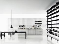 - Linear stainless steel kitchen K20 - Boffi