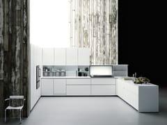 - Corian® kitchen with peninsula without handles XILA - Boffi