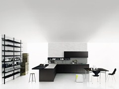 - Kitchen with peninsula without handles XILA - Boffi