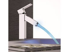 - Single handle LED washbasin mixer without waste Q-COLOR | Washbasin mixer - Remer Rubinetterie