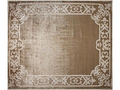 - Handmade rectangular rug MARQUISE SHADOW TOBACO - EDITION BOUGAINVILLE
