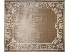 - Handmade rectangular rug MARQUISE SHADOW TOBACO - EDITION BOUGAINVILLE