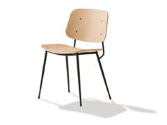 - Steel and wood chair SØBORG | Chair - FREDERICIA FURNITURE