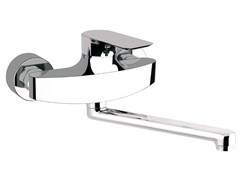 - Wall-mounted kitchen mixer tap with swivel spout INFINITY | Kitchen mixer tap - Remer Rubinetterie