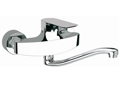 - Wall-mounted kitchen mixer tap with swivel spout INFINITY | Wall-mounted kitchen mixer tap - Remer Rubinetterie