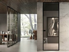 - Hinged flush-fitting glass door BISYSTEM | Flush-fitting door - GAROFOLI