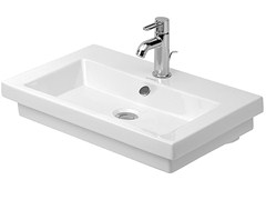 - Rectangular ceramic washbasin with overflow 2ND FLOOR | Rectangular washbasin - DURAVIT