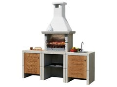 - Gas outdoor kitchen with Barbecue MELODY 3 Acqua - Sunday