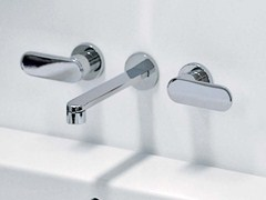 - 3 hole wall-mounted washbasin tap ONE | Wall-mounted washbasin tap - CERAMICA FLAMINIA