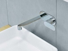 - Wall-mounted washbasin mixer with plate ONE | Washbasin mixer with plate - CERAMICA FLAMINIA