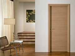 - Hinged melamine-faced chipboard door XOSIA | Oak door - GIDEA