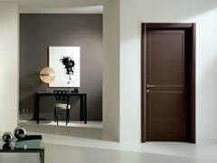 - Hinged laminate door GENIA | Wenge door - GIDEA