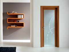 - Hinged decorated glass door GENIA | Decorated glass door - GIDEA