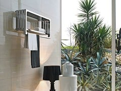 - Wall-mounted glossy steel towel warmer MONTECARLO | Glossy steel towel warmer - Tubes Radiatori
