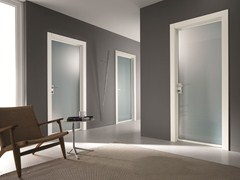 - Hinged satin glass door STILIA | Satin glass door - GIDEA