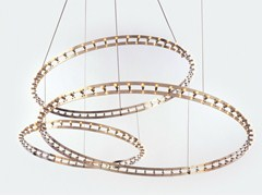 - LED metal pendant lamp CITADEL COMPOSITION - Quasar